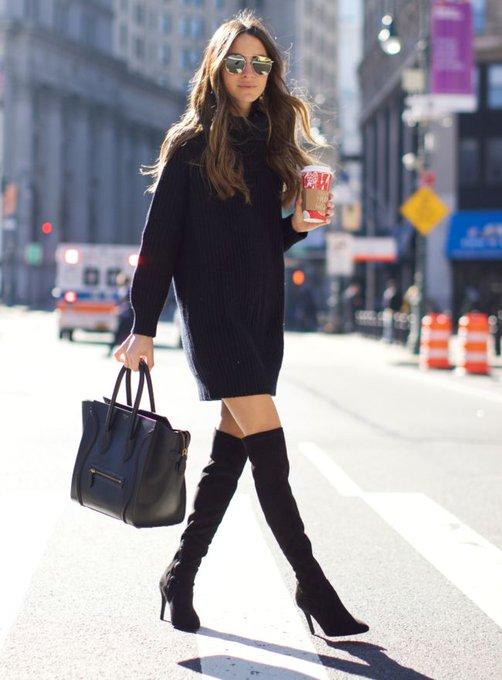 The Black Sweater Dress