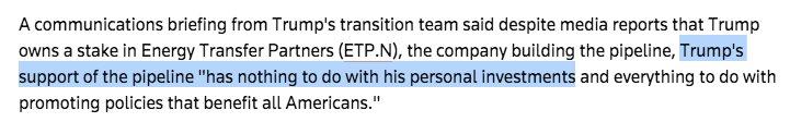 Trump endorses the Dakota Access Pipeline, tacks on a very special clarification: https://t.co/3lq8eUNsMn https://t.co/rPC5Fp94Sg