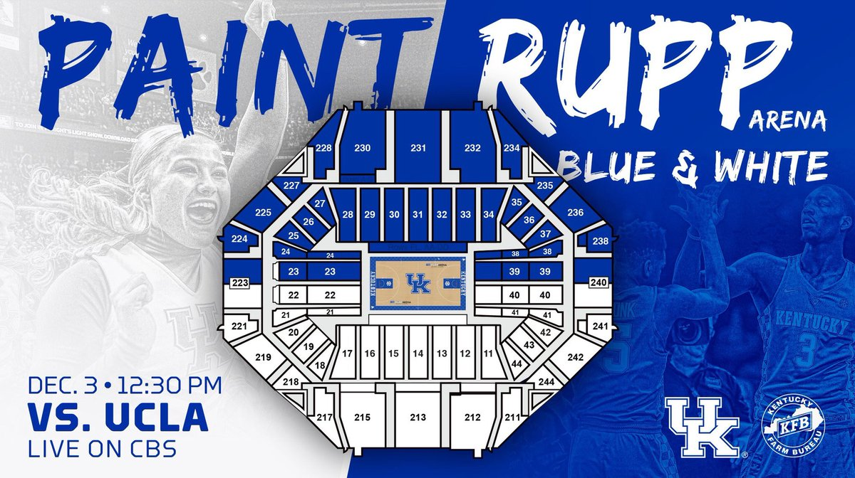 """Rupp Arena Rafters Getting Painted Blue: UK Ticket Office On Twitter: """"Calling All Of #BBN. We Need"""