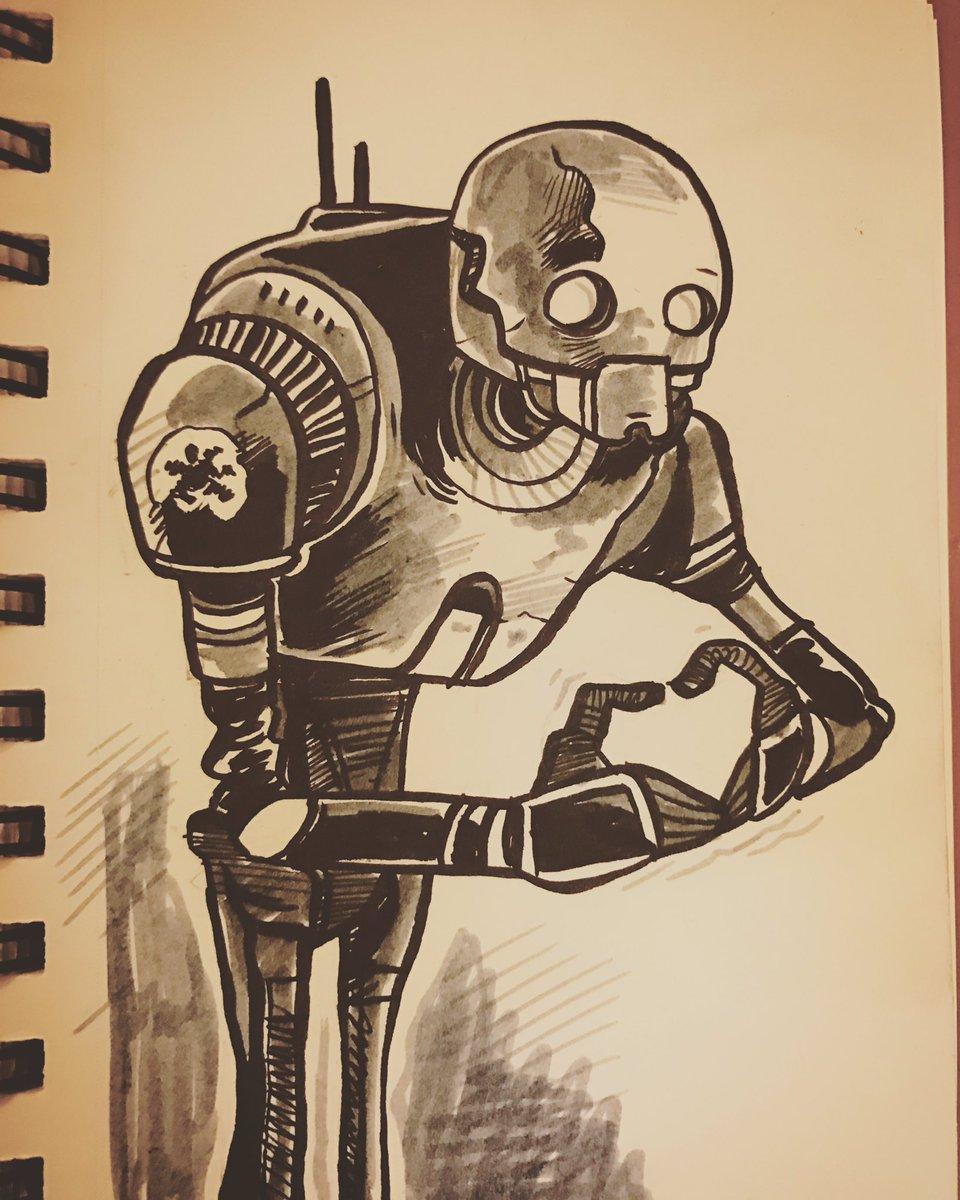 #k2so #StarWars #RogueOne #sketch #fun ❤️❤️❤️ https://t.co/L8drZUfM9O