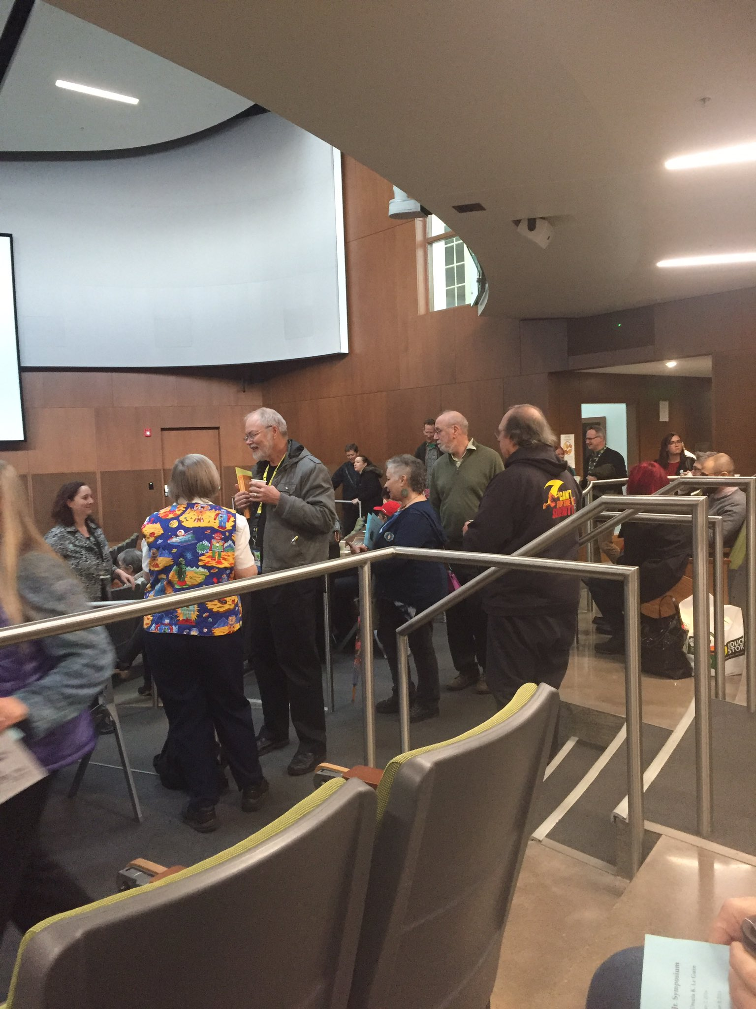 Le Guin symposium participants and audience arriving. #tiptree16 https://t.co/W5MVmqLlVw