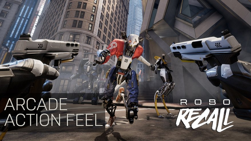 We're having a blast creating #RoboRecall for VR players. Here's a new look at the game! https://t.co/vekhxgK5N9 https://t.co/iB1P4WItd8