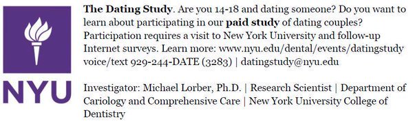 Teenage dating research paper