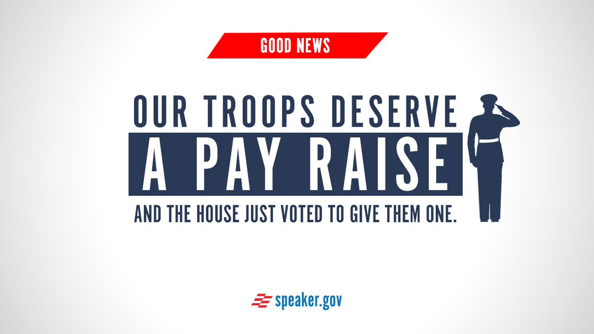 It's the largest troop pay raise in six years. #NDAA https://t.co/lVQk01vlS6