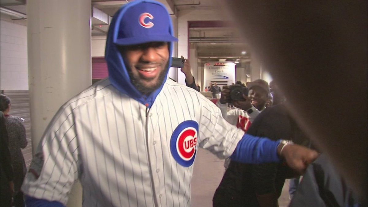 LeBron wears Cubs uniform after losing World Series bet: @JimRoseABC7