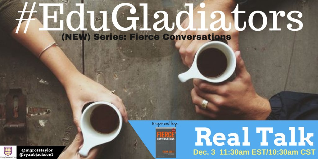 #EduGladiators is BACK TODAY & taking a deeper dive into convos w/Real Talk! #satchat #catholicedchat #Nt2t @Glennr1809 @MurphysMusings5 https://t.co/fbij26u2XG