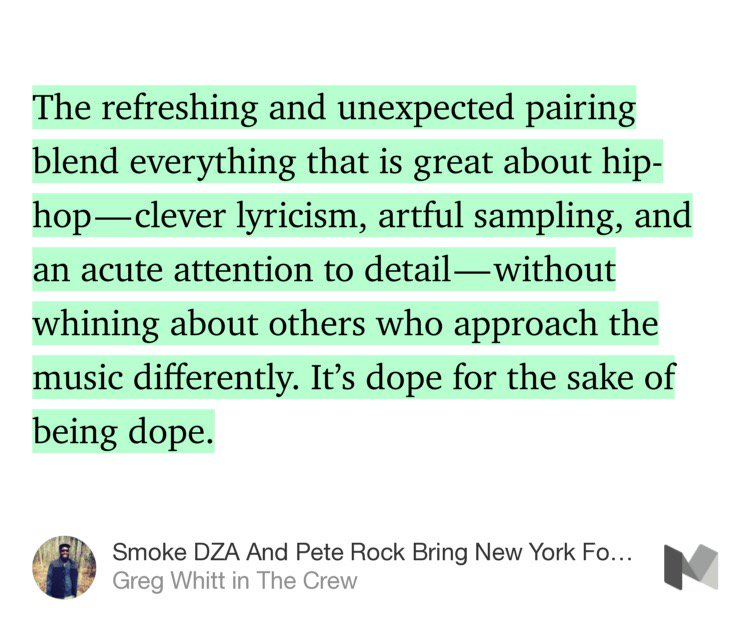 Smoke DZA + Pete Rock Bring NY Forward With New Album 'Don't Smoke Rock' (by @whitt_writes) https://t.co/qSgR0CtCFM https://t.co/m7HScTMshE