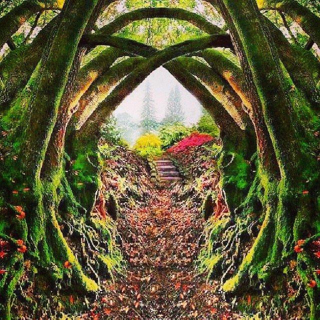 Entrance to the secret gardenPortland Oregon ht