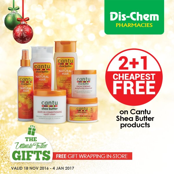 "Dis-Chem on Twitter: ""Get 3 Cantu Shea Butter products for ..."