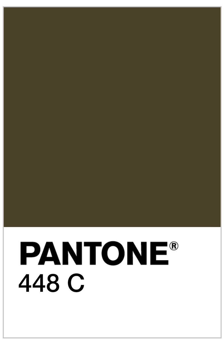 The Australian gov chose Pantone 448 C for plain cigarette packaging after  research found it was