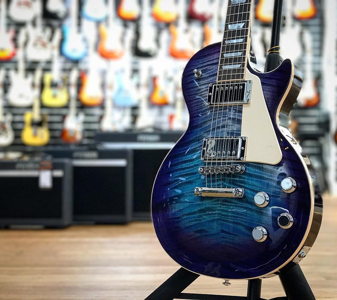 guitarguitar on twitter brand new finish alert blueberry burst gibson les paul standard hp. Black Bedroom Furniture Sets. Home Design Ideas
