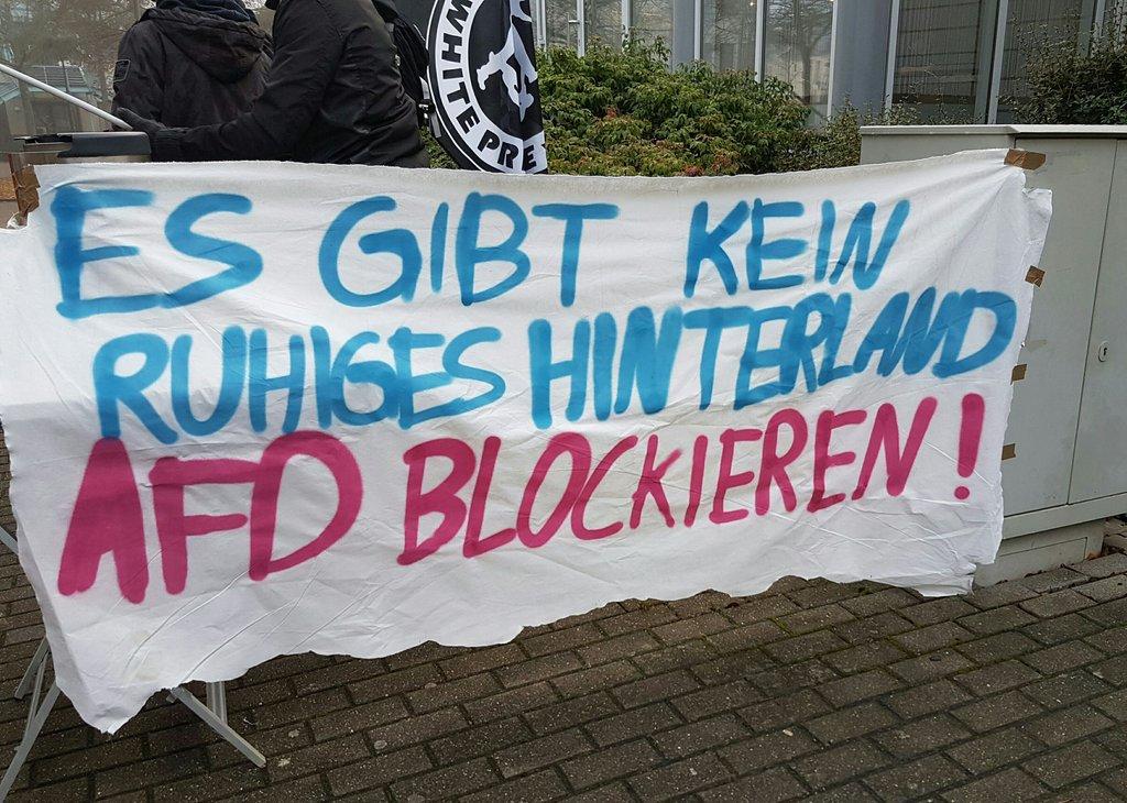 Protest gegen AFD in Euskrichen am 2.12.2016