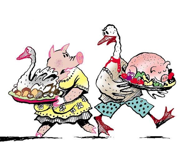 начинается картинка к пословице гусь свинье не товарищ высокого
