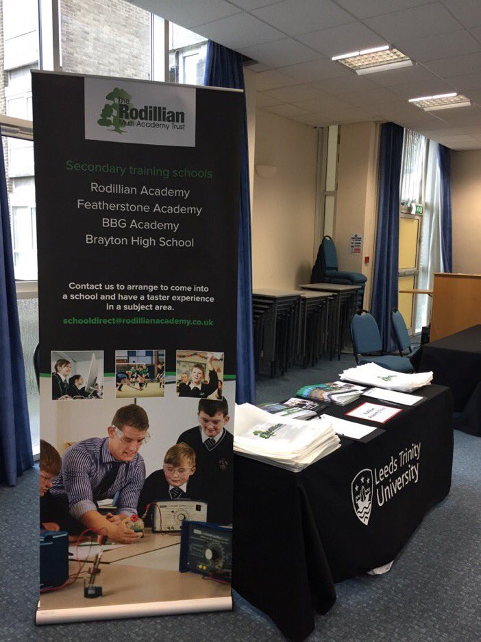 Come and visit us at Leeds Trinity PGCE Open Day. #getintoteaching  @RodillianMAT @LeedsTrinity