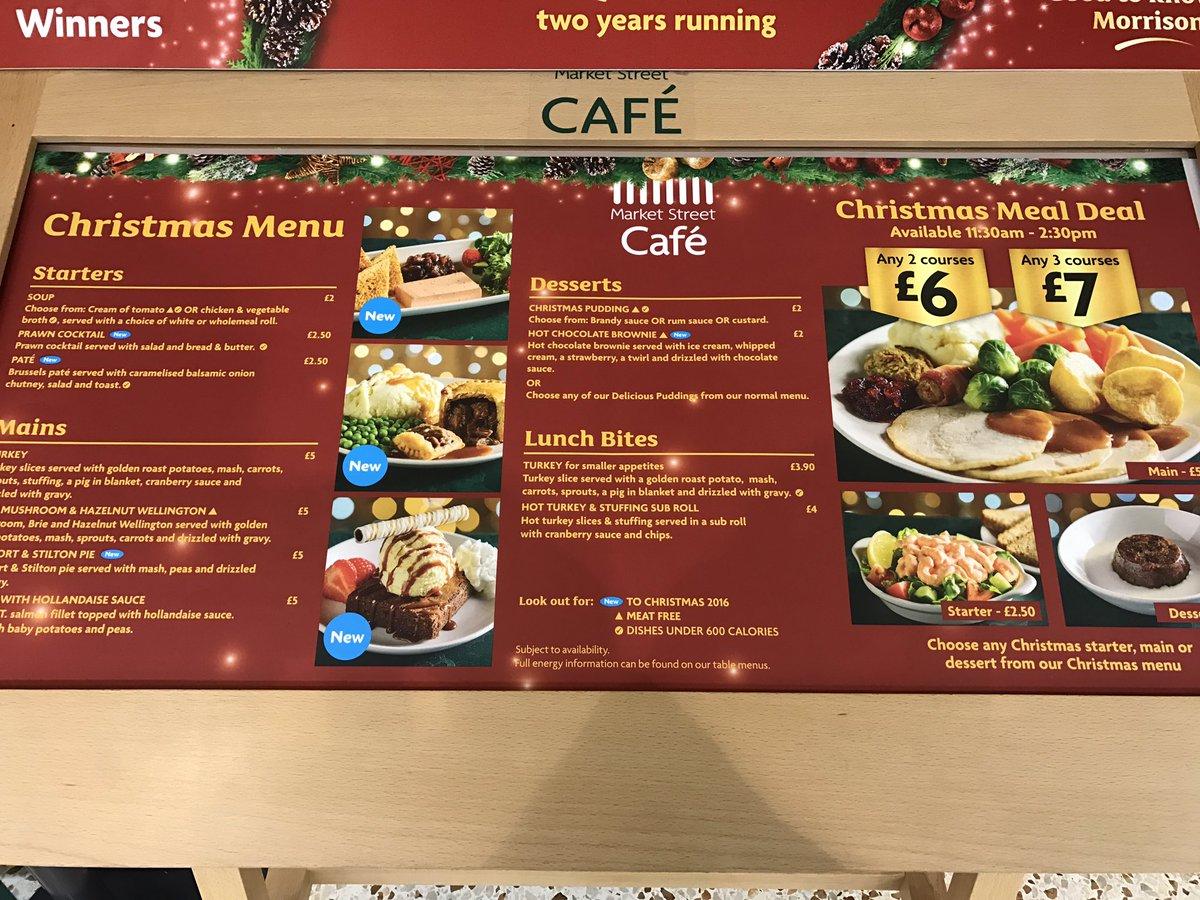 Morrison Cafe Food Restaurant Christmas Meal