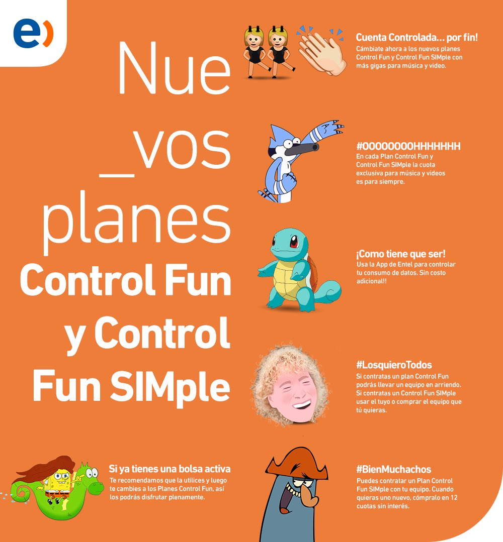 Entel Chile Pa Twitter Planes Cuenta Controlada Controlfun Y Controlfunsimple Datos Y Gb Para Apps De Musica Y Video Apple Music Spotify Netflix Y Youtube Https T Co Pvzxbwo8nh