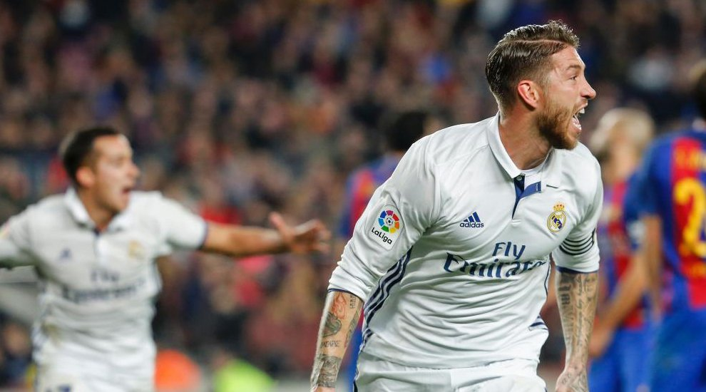 Barcellona-Real Madrid risultato 1-1: Sergio Ramos mantiene il Real a +6 in classifica
