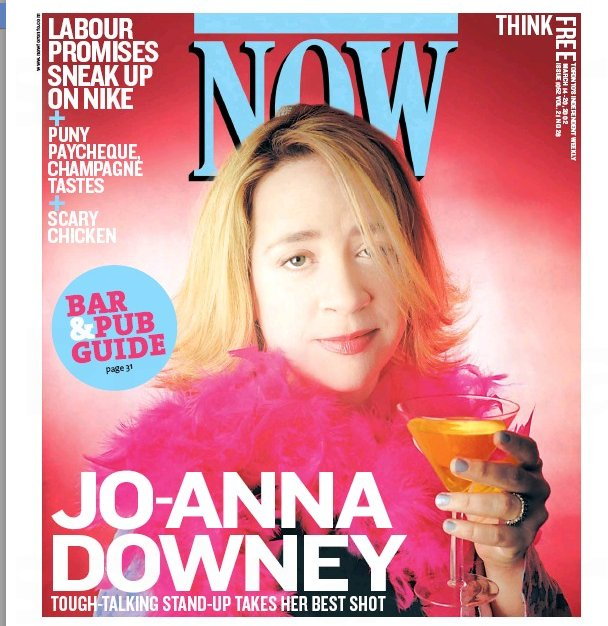 RIP, Jo-Anna Downey. Stand-up. Producer. Host. Fearless champion of new comics, esp women. https://t.co/BiSPfiqkp0 https://t.co/woXFmgxCZM