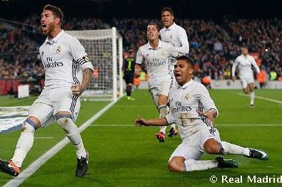 With Barcelona seconds from a hard-fought Clasico win, Ramos headed in Luka Modric free-kick on 90 minutes, earning Madrid a crucial point at Camp Nou.