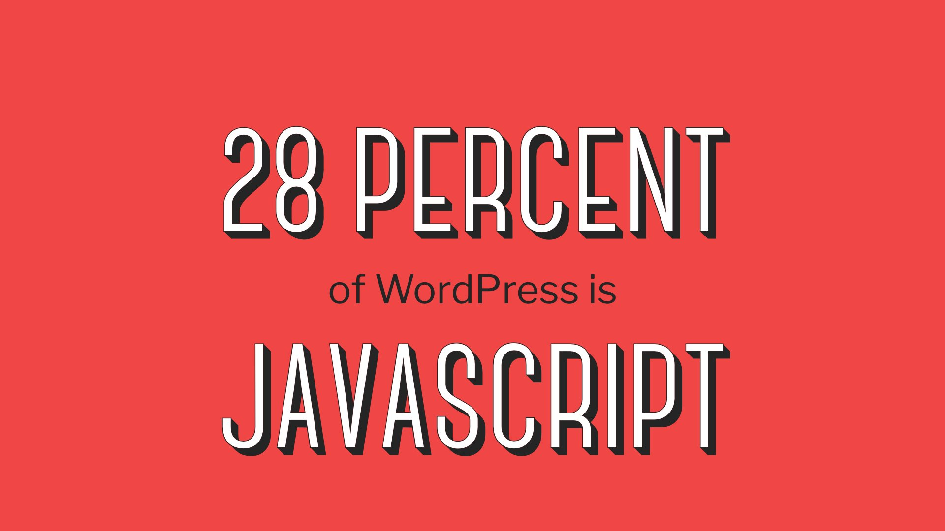 "Let's return to ""Learn Javascript Deeply"" - 28% of WordPress is Javascript. #wcus https://t.co/LNo9FgkAlQ"