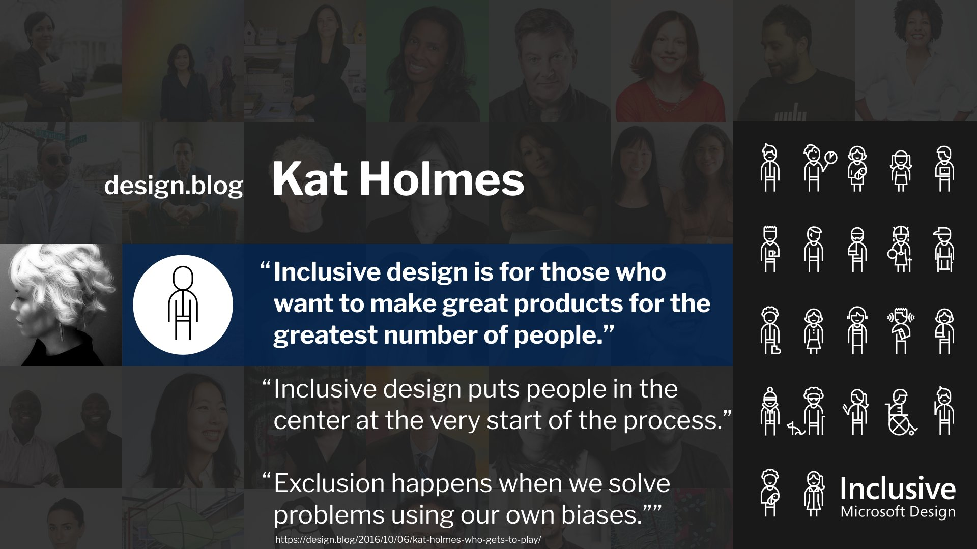 ".@katholmes: ""Inclusive design is for those who want to make great products for the greatest number of people."" #wcus https://t.co/BGZyep7BGY"