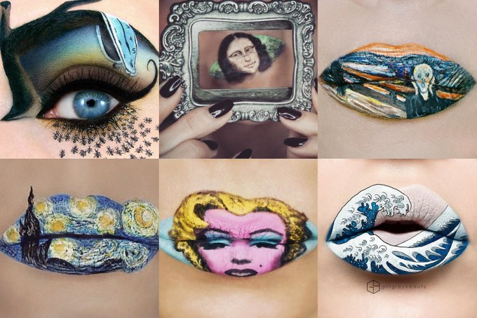Check Out This Makeup Inspired By Famous Art