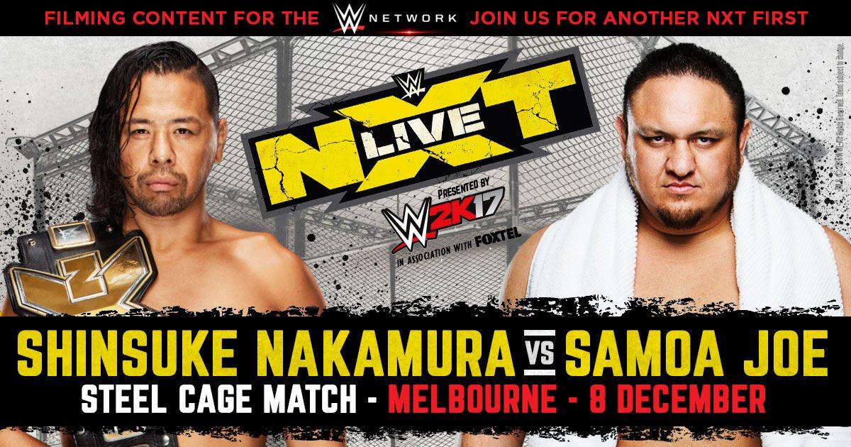 مبارة داخل القفص الحديدي على لقب NXT