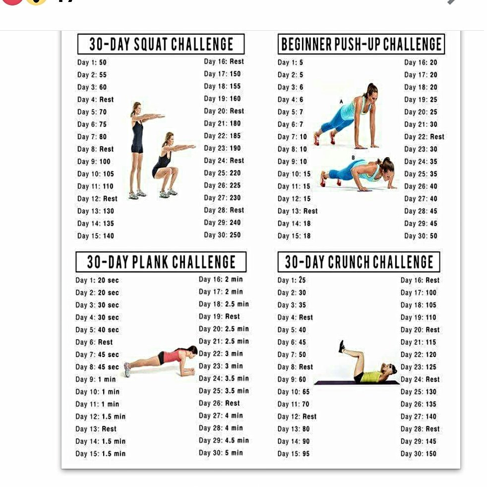 30 Day Plank Challenge 30 Day Squat And Crunch - Classycloud co