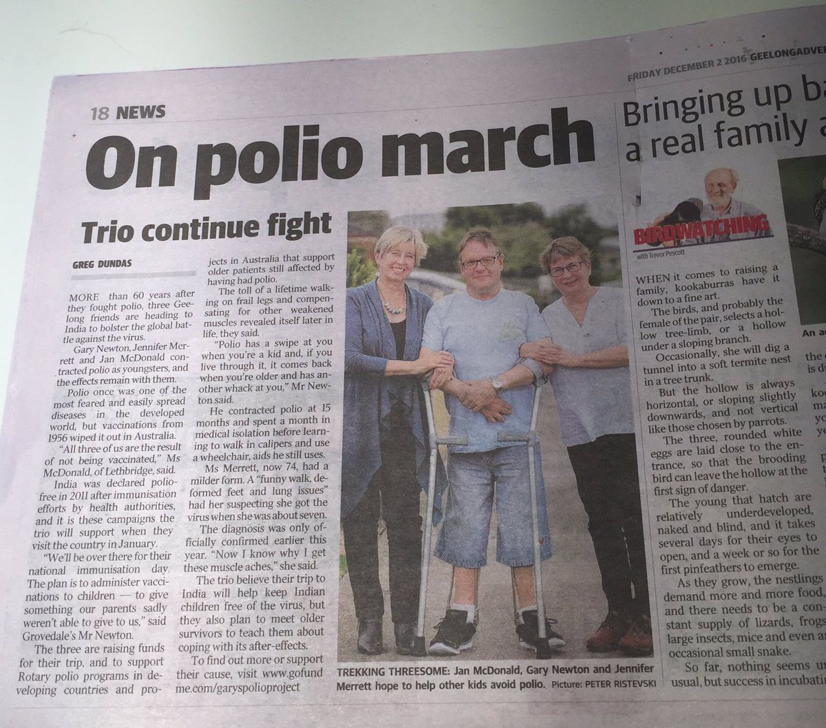 3 of our Geelong Polio Support Group are heading to India to help fight polio, support its survivors & honour our parents Here's their story