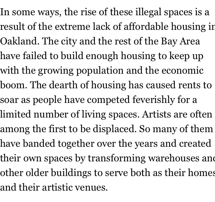 Such good points abt #oaklandfire #ghostship, artists, and gentrification https://t.co/6KCxH8hsiL https://t.co/bbCjoMS3VP