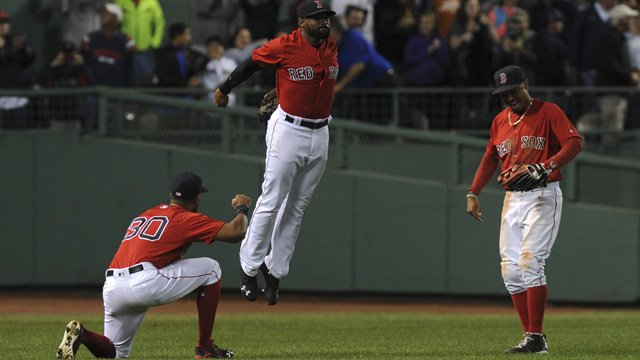 Red Sox's Outfield Victory Dances Will Be Featured In 'MLB The Show 17' https://t.co/wdNIeKeoTt https://t.co/OiR2qV39Kk