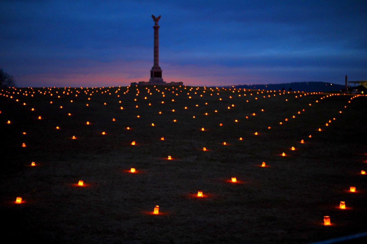 Volunteers remember 23,110 Antietam casualties — in candles.