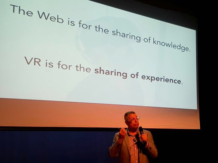The web is for sharing of knowledge. #VR is for the sharing ofexperience - @mpesce #realityremix #ar #virtualreality https://t.co/hIPrc8HbrE