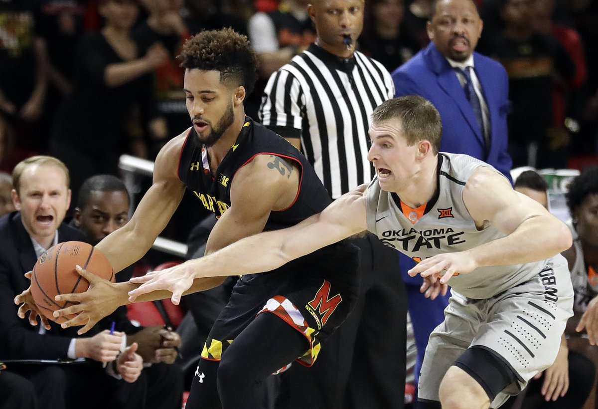 Trimble's late free throws lift Maryland to 71-70 win over Oklahoma State