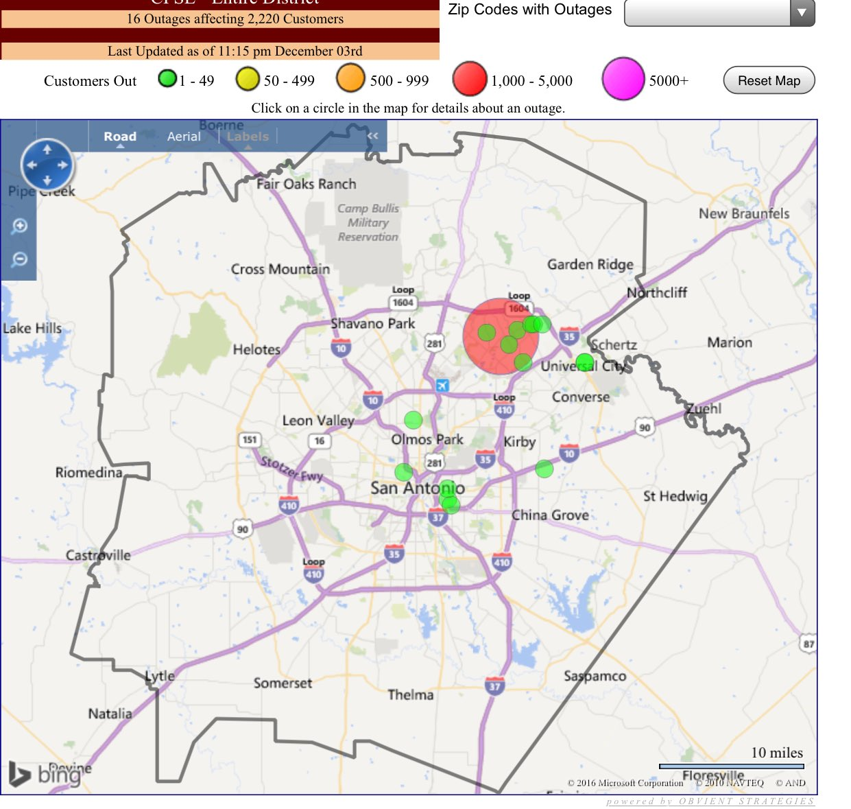 cps energy on twitter current outage map showing just over k affectedcustomers crews are out working as quickly  safely as possible. cps energy on twitter current outage map showing just over k
