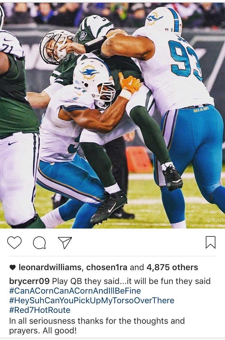 At least Bryce Petty has a sense of humor.... #jets https://t.co/fDcWhWkOVg