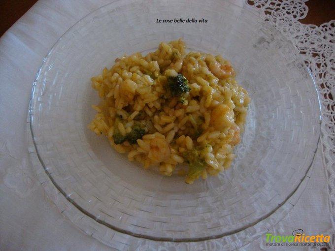 Risotto con broccoli e gamberetti