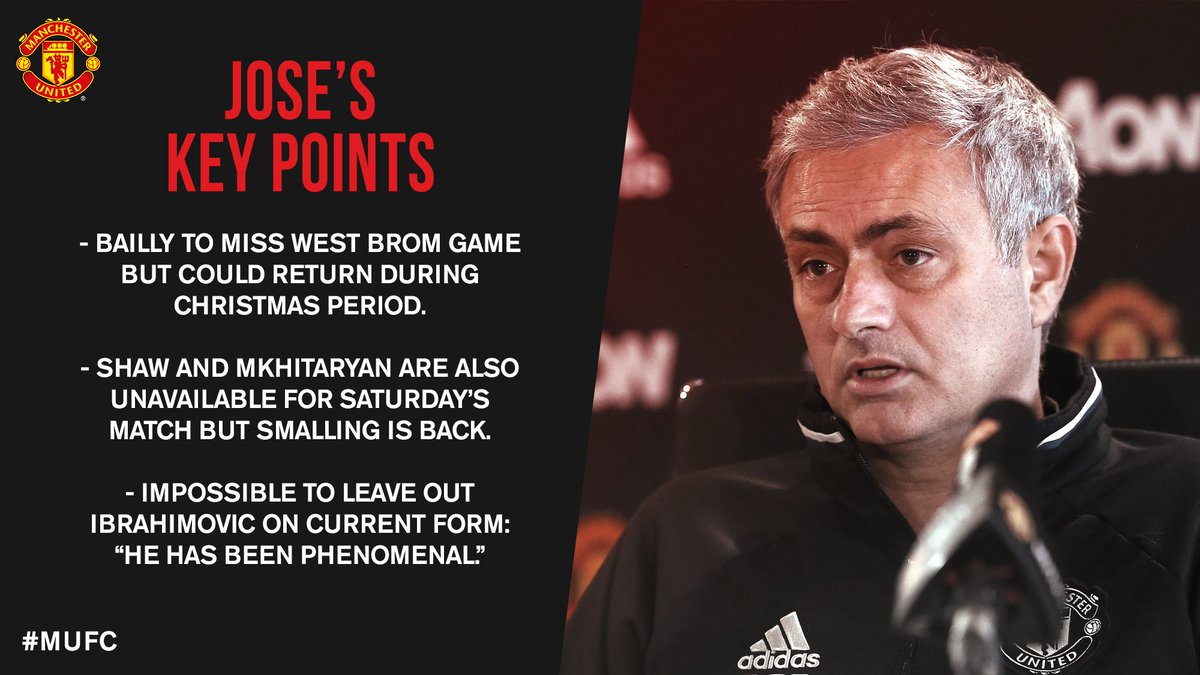 Manchester United On Twitter Read The Key Quotes From Jose Mourinho S Press Conference In Our Blog Https T Co Y8tmkka6wh Mufc