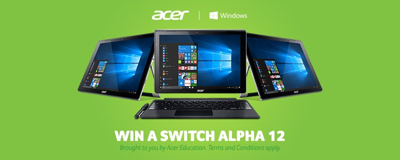 See my blog for more details on Acer Switch Alpha 12s giveaway https://t.co/vOcz5wmHMH https://t.co/fn0n9Eshv9