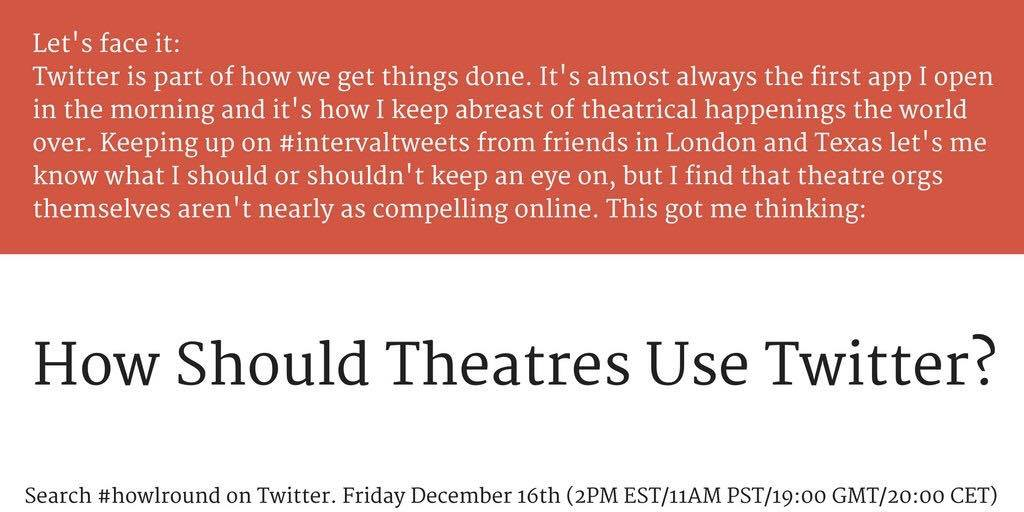 Thumbnail for How Should Theatres Use Twitter?