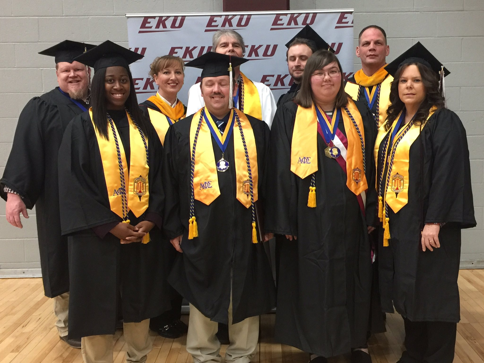 Some of our 28 #EKU #EKUGrad students from the Regional Campuses & Sites. Congratulations on your achievements! #fall2016 https://t.co/1KfPGlgrIB