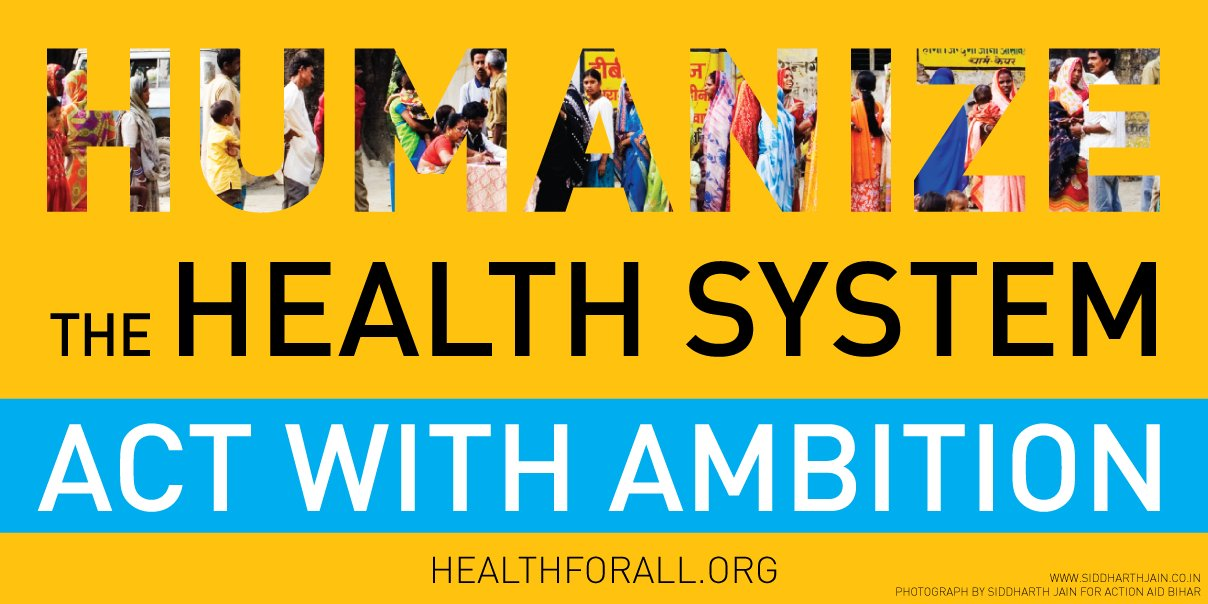 Humanize the #healthsystem. #HealthforAll! https://t.co/yEaAq9cnQd https://t.co/htjo1yymae