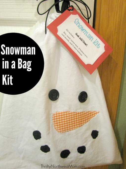 Homemade Gift Idea: Snowman in a Bag Kit