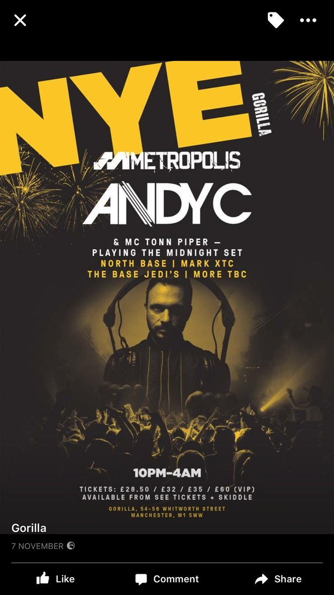 Don't forget @MetropolisUK NYE boppers with @ANDYC_ram @TonnPiper @NORTHBASEUK @djmarkxtc and more https://t.co/6CIMizYry0