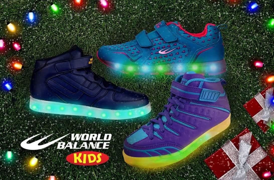 world balance light up shoes