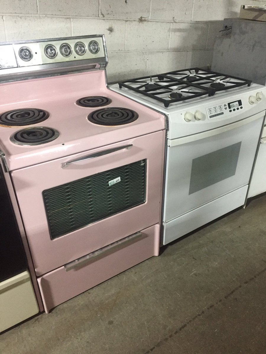 Rebuilding Center On Twitter Retro Pink Electric Range 60 Dacor Slide In Gas Convection 175
