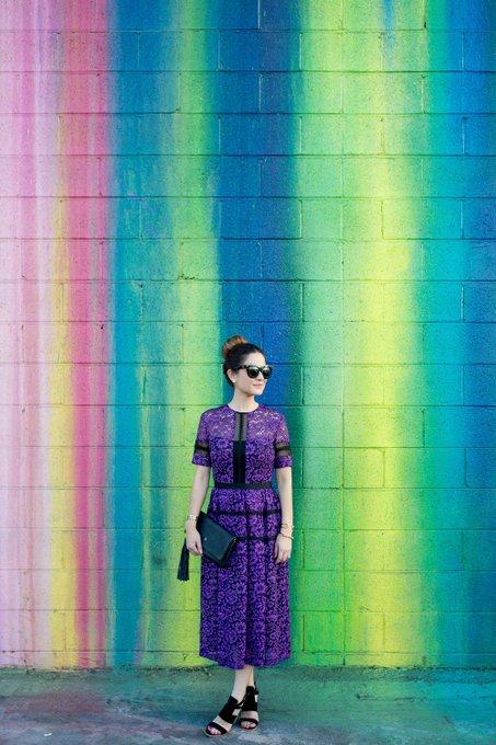 Purple Lace Midi Dress