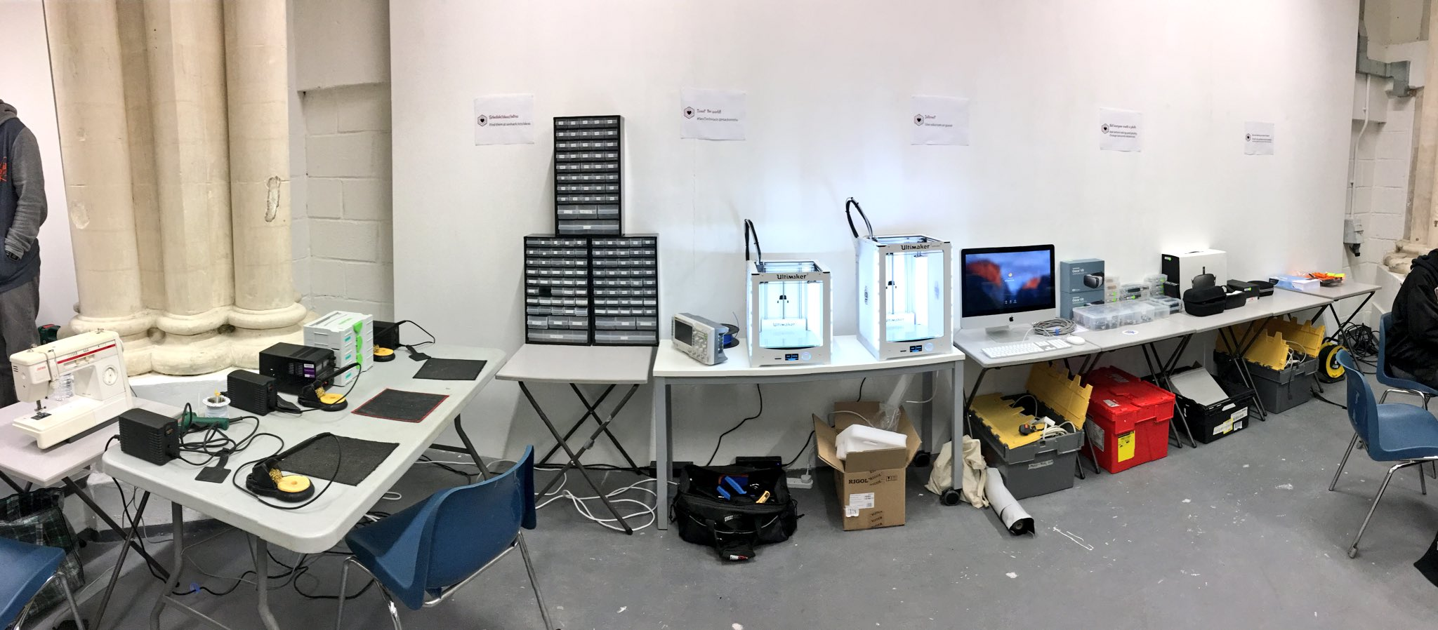 Hardware station is set up. @hacksmiths #SexTechHack https://t.co/bJsyp0x0cQ