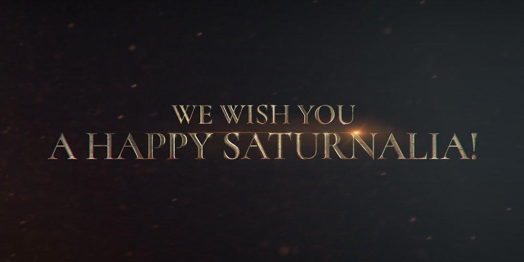 happysaturnalia hashtag on Twitter