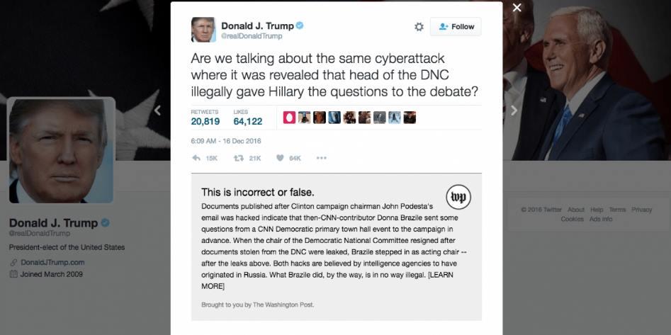 Washington Post crea extensión chrome para darle contexto a los tweets de Donald Trump https://t.co/giZ8E7tg8q https://t.co/VsWGAgfcQj